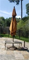 Outdoor Umbrella Stands and Table