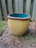 Lot of 2 Large Outdoor Pottery Planters