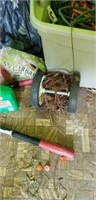 Estate lot of a chair, a weed eater, clippers, etc