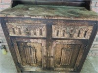 Primitive Rustic Style Wooden Cabinet