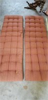 Pair of seat cushions Large Loung Chair Outdoor