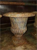 Set of 3 Beautiful Cast Iron Planters/Urns