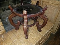 Large Wooden Round Planter Stand
