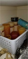 Candles, craft supplies, floral tape, & more