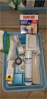 Band aids, peroxide, baby rub, gauze and more