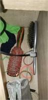 Hair brushes, flat iron, curling iron, hair acc.