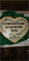 Wall plaque for children from Mother