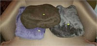 Lot of 3 King Size Plush Blankets Nice