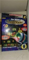Laser magic, large candles, gift bags, ddecor