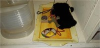 Estate lot of placemats, decorative items, & more