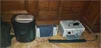 Royal Paper shredder, hp copier, hp printer