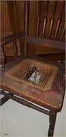 Childs size cane bottom rocking chair,