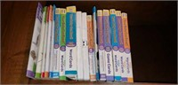 Estate lot of books, learning DVD's, hole punch