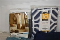Group of Assorted Curtain Panels & Valance