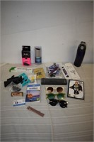 Thermos Water Bottle, Sun Glasses, Watch Bands