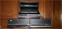 Lot of 3 Disc Gear Disc Boxes