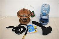 Dog Leash, Water Bowl, Bird Feeder, etc.