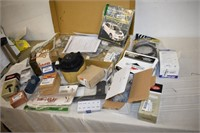 Box of Assorted Car Parts