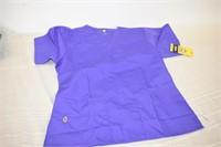 Purple Scrub Top Size Small
