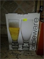 Lot of 19 Stemmed Glass, Beer Glasses, Etc