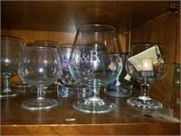 Lot of Glasses, Bottles, Bar Books, Etc