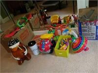 Lot of Childrens' Tonka Toys, Potato Head, Train