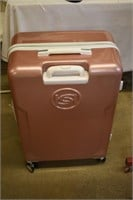 Bebe Rose Pink Hard Shell Suitcase with Casters