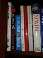 3 Shelves of Educational Books, Decor, Etc