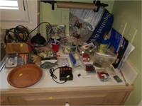 Counter Top FULL of Household Items