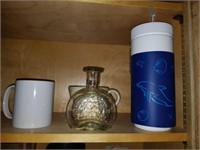 Kitchen Cabinet of Stemware, Glassware, and MORE
