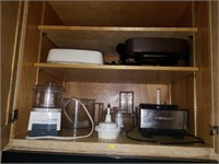 Cabinet of Cuisinart Food Processor, Cooker,Etc