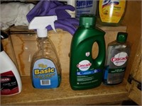 Kitchen Cabinet full of Household Cleaners