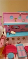 Barbie cruise ship with doll and accessories