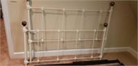 Beautiful aluminum white full size bed frame