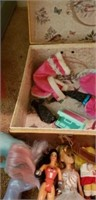 Estate lot of dolls and accessories