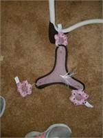 Baby Girls' Pink & Brown Graco Vibrating Swing