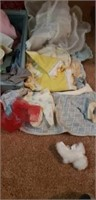 Estate lot of dolls and lots of accessories