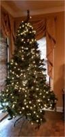 Huge beautiful lighted 10ft christmas tree