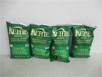 (4) Kettle Brand Potato Chips Yogurt & Green Onion