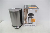 simplehuman Semi-Round Step Trash Can, Stainless