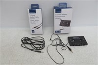Insignia Cassette Adapter & 3.5mm Audio Cable, 6'