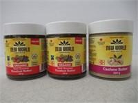 (3) New World Organics Hazelnut & Cashew Butter