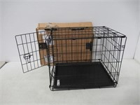 """New World 24"""" Folding Metal Dog Crate, Includes"""