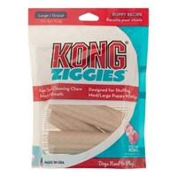 (2) Kong Ziggies 227g (8oz) Puppy Recipe Large
