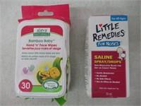 Lot of Baby Items, Wipes & Saline Spray Drops