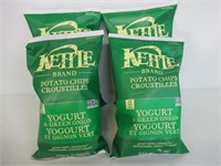 "(4) ""As Is"" Kettle Chips Yogurt and Green Onion"
