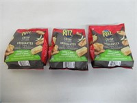 (3) Ritz Crisp & Thins Cheese And Onion Flavour