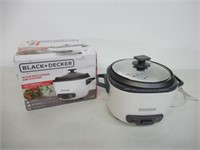 """""""As Is"""" BLACK+DECKER 2-in-1 Rice Cooker and Food"""