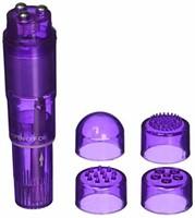 Pocket Pleasure Mini Massager w/ 4 Attachments -