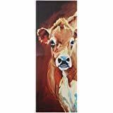 Creative Co-op Rectangle Canvas Cow Wall Décor